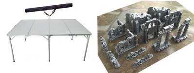 6'x4' Folding Table + 6'x4' Game Mat + Ruins and Gates of the Realms Full Set