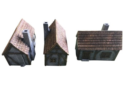 Medieval Houses type A 3pcs