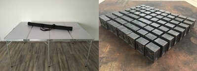 6'x4' Folding Table + 6'x4' Game Mat + Industrial Walls 60pcs