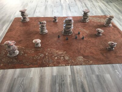 Desert Rocks Full Set + 3'x3' Game Mat
