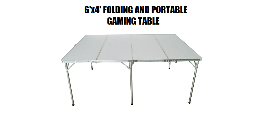 6'x4' folding and portable GAMING TABLE