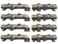 Industrial Pipes 8pcs