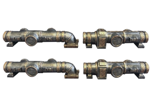 Industrial Pipes 4pcs