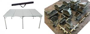 6'x4' Folding Table + 6'x4' Game Mat + Industrial Ruins and Pipes Full Set