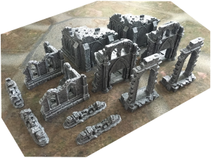 Ruins and Gates of the Realms Full Set + 6'x4' Game Mat
