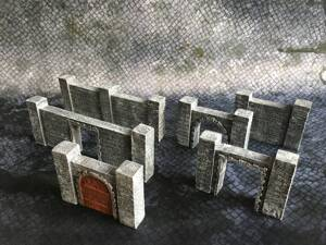 Dungeon Walls 40pcs + 3'x3' Game Mat
