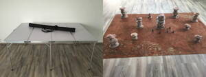 6'x4' Folding Table + 6'x4' Game Mat + Desert Rocks Full Set